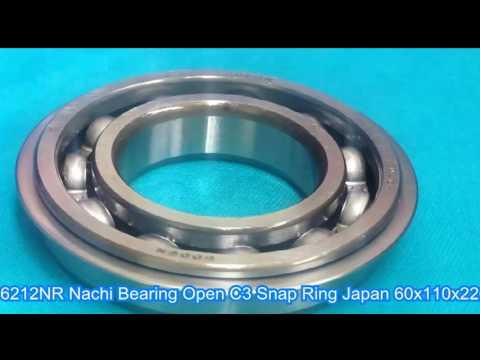 6212NR Nachi Bearing Open C3 Snap Ring Japan 60x110x22