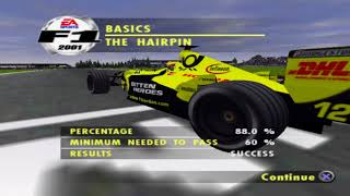 F1 2001 - Gameplay - Part 1 - English - PS2