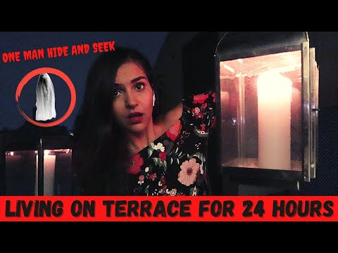 Living on Terrace for 24 HOUR Challenge😨 (Went WRONG)