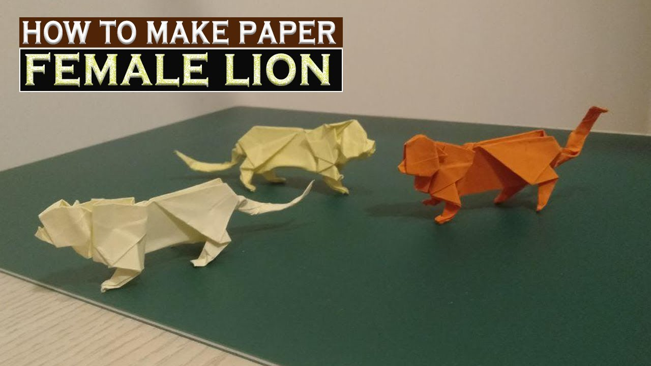 How to make a Paper Female Lion - DIY Origami Paper Art