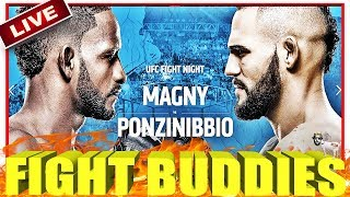 🔴 UFC ARGENTINA MAGNY VS PONZINIBBIO + LAMA VS ELKINS + LIVE FIGHT REACTION!