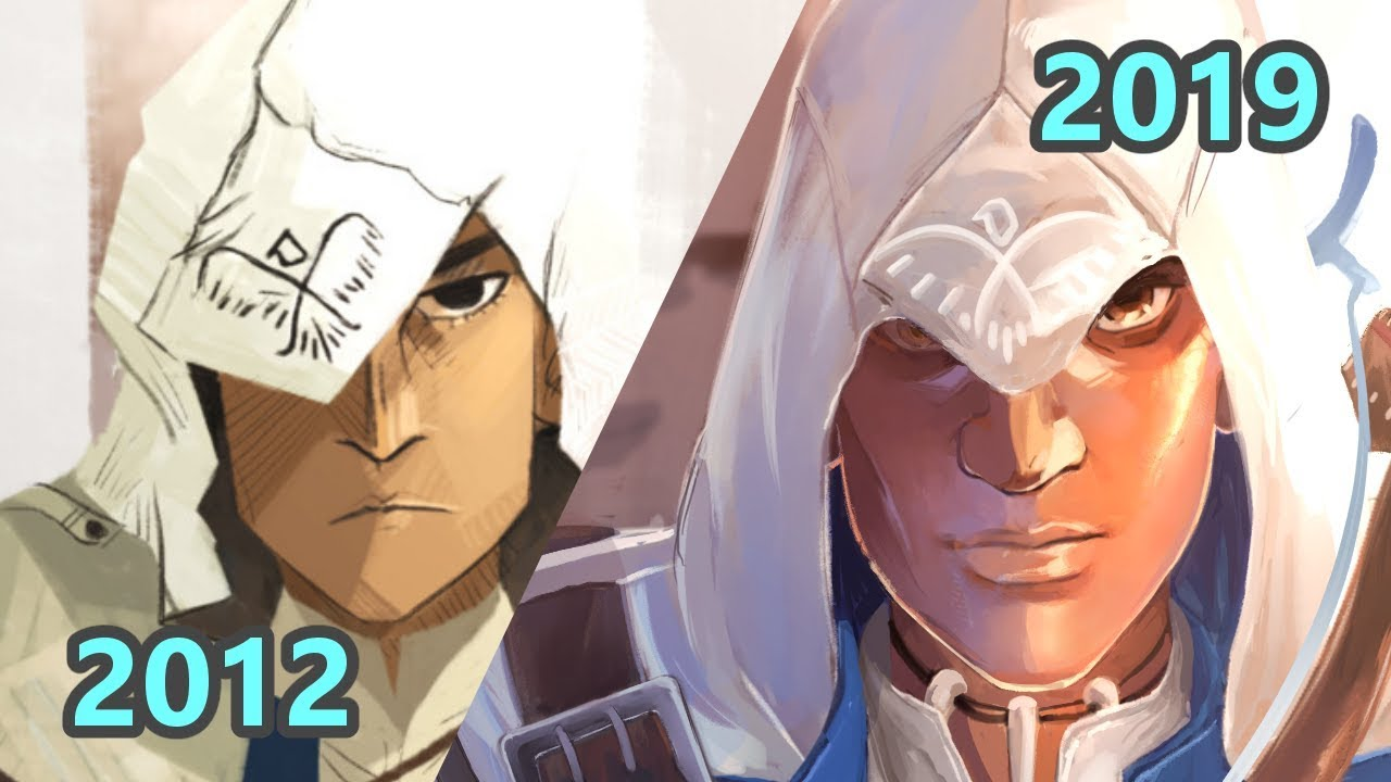 Redrawing My Old Assassin S Creed Fanart Timelapse Youtube