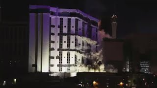 End of Era: Epic implosion of legendary Riviera Hotel & Casino in Las Vegas