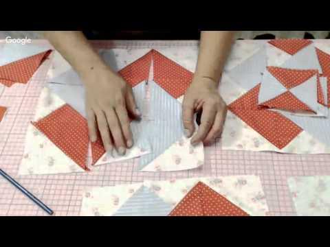 Patchwork Ao Vivo #47: método americano de costura rápida + bloco Card Trick