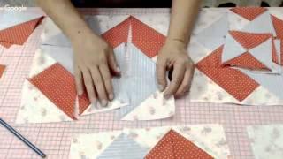 Patchwork Ao Vivo: método americano de costura rápida + bloco Card Trick
