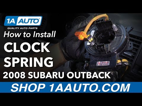 How to Replace Airbag Clock Spring 04-09 Subaru Outback
