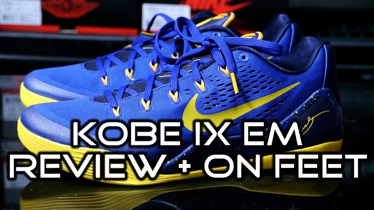 on sale 17819 64072 Nike Kobe IX (9) EM - Gym Blue University Gold Obsidian