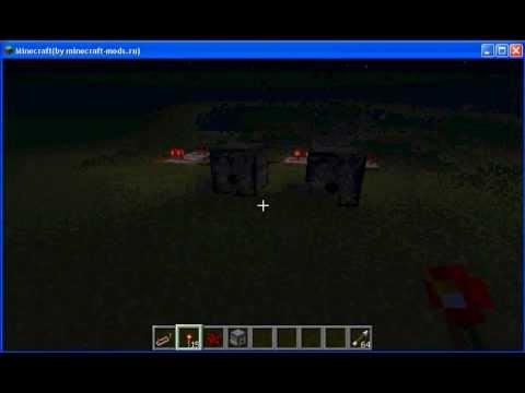 Tutorial по Minecrafte быстрая пушка за 2 минуты)