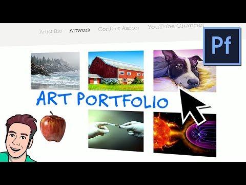 How to Create Your First ART PORTFOLIO Website (Adobe Portfolio)