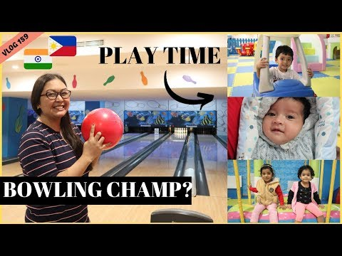 WE WENT BOWLING, SHOPPING AND KIDS PLAY AREA IN BANGALORE II Filipino Indian Family Vlog # 159