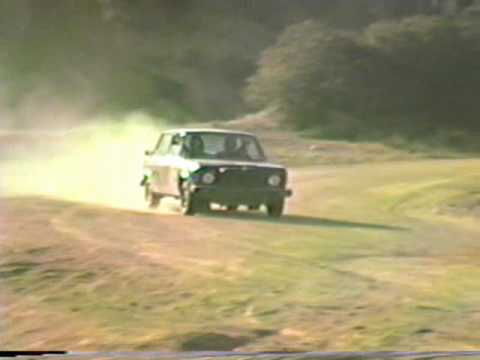DRIVING AND JUMPING OLD FIAT ON MULHOLLAND DRIVE