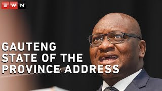 Gauteng Premier David Makhura delivered Gauteng's State of the Province Address on 25 February 2020 at the Sefako Makgatho Health Sciences University. Here's what he had to say.