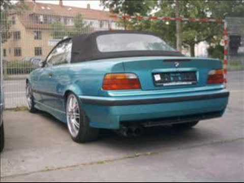bmw cabrio e36 318i german look 320i m packet exhaust youtube. Black Bedroom Furniture Sets. Home Design Ideas