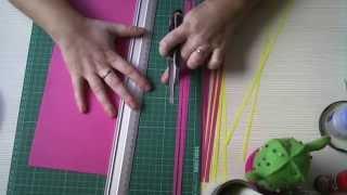 Tutorial 4: Quilling - Como hacer tiras de Papel fácilmente.