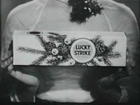 "50's Lucky Strike Cigarette commercial with ""Christmas"" theme"