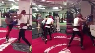 (SAVAGERY) MCGREGOR SPARRING OPPONENT LIGHTS HIM UP WITH COMBOS: