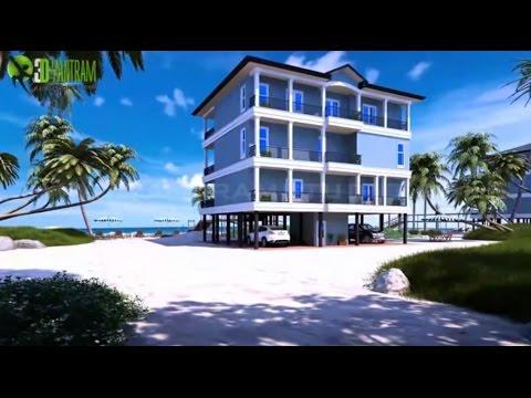 3d virtual tour for beach house exterior interior for Virtual house walkthrough
