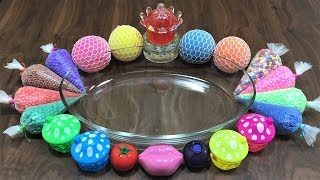 Mixing Stress Balls, Floam and Lip Balm into Store Bought Slime! Satisfying Slime Video ! thumbnail