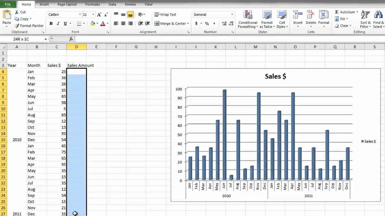 How To Make A Bar Graph In Microsoft Excel 2010 For Beginners