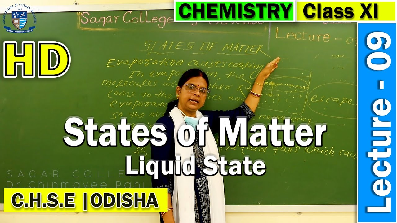 Chemistry | States of Matter | Lecture - 9 | Liquid State | Online Class