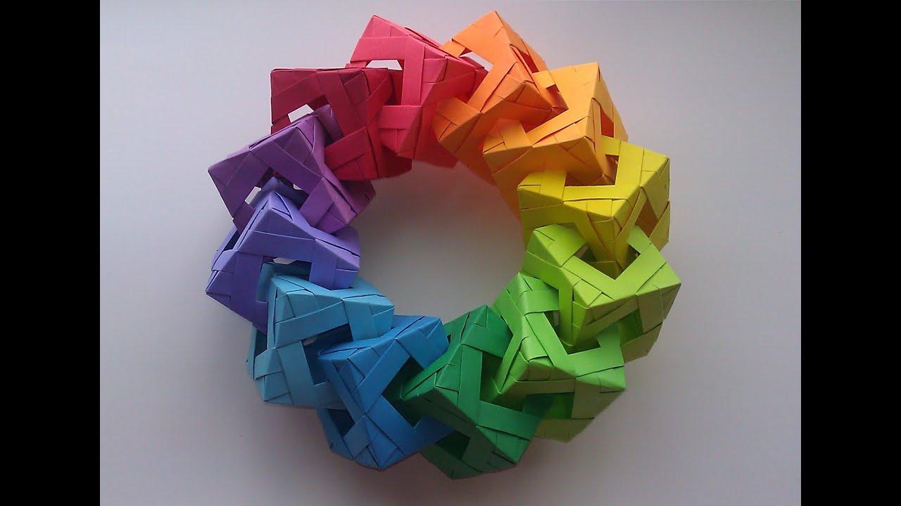 cool modular origami diagram 2001 ford explorer sport wiring cube ring tutorial youtube