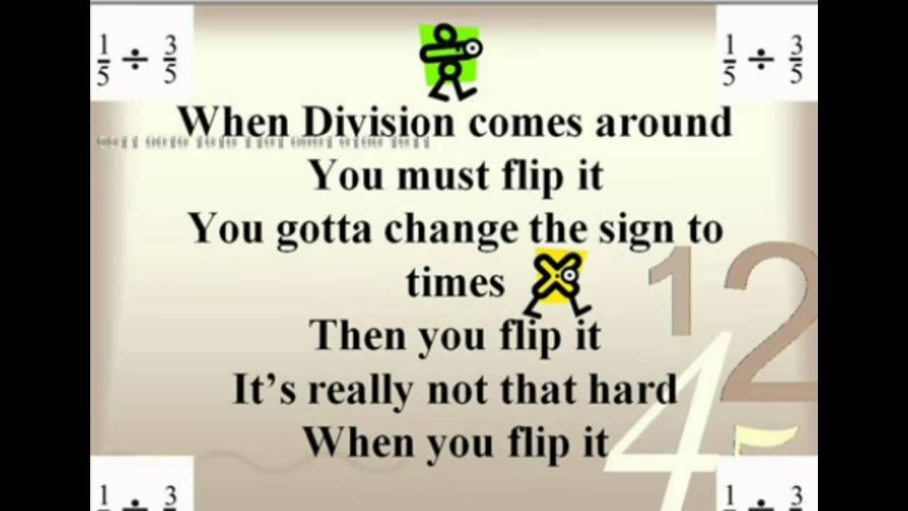 math worksheet : a2 dividing fractions song flip it!  youtube : Fraction Rap