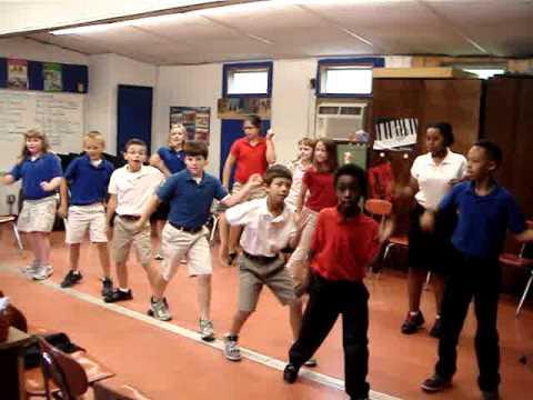 Jump in the Line dance 4th grade Brunson Elementary School Erin Armstrong