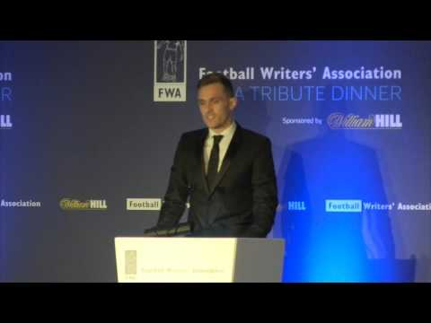 Darren Fletcher's tribute to Wayne Rooney at the FWA Tribute night,