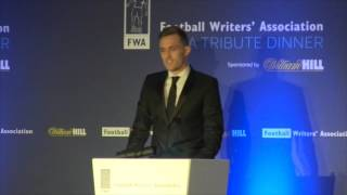 darren fletcher s tribute to wayne rooney at the fwa tribute night