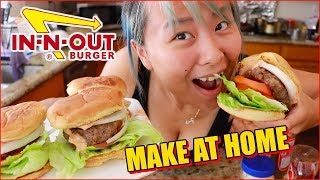 How to Make In-n-Out Burgers #RainaisCrazy DIY Burger Recipe Cooking Show