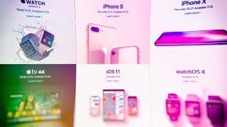Презентация Apple за 6 минут: iPhone X, iPhone 8 и другие новинки