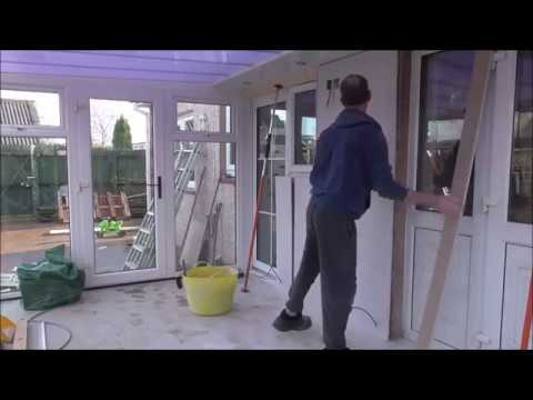 Build a conservatory p7 Lighing Box & starting on the walls