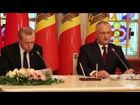 Urmăriți filmul întâlnirii dintre Recep Erdogan și Igor Dodon