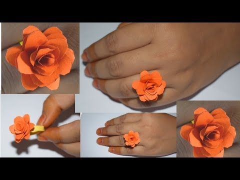 How To Make Ring :how to make a ring with paper