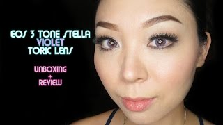 EOS 3 Tone Stella Violet Toric Lens Unboxing and Review