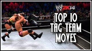 WWE 2K14 - Top 10 Tag Team Moves! (WWE 2K14 Countdown)