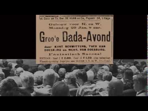 """Reconstructie van """"De Groote Dada soirée van 29 januari 1923""""."""