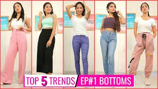 TOP 5 FASHION TRENDS - Bottoms : Jeans \u0026 Pants | Episode 1 | DIYQueen