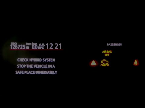Prius C Check Hybrid System Check Engine Light & Q & A   156