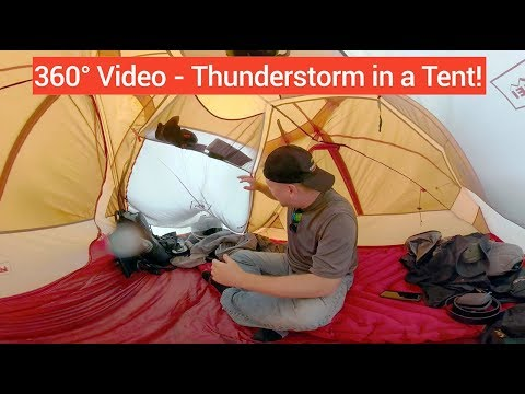 360VIDEO: Weathering a severe thunderstorm in a tent at COTA