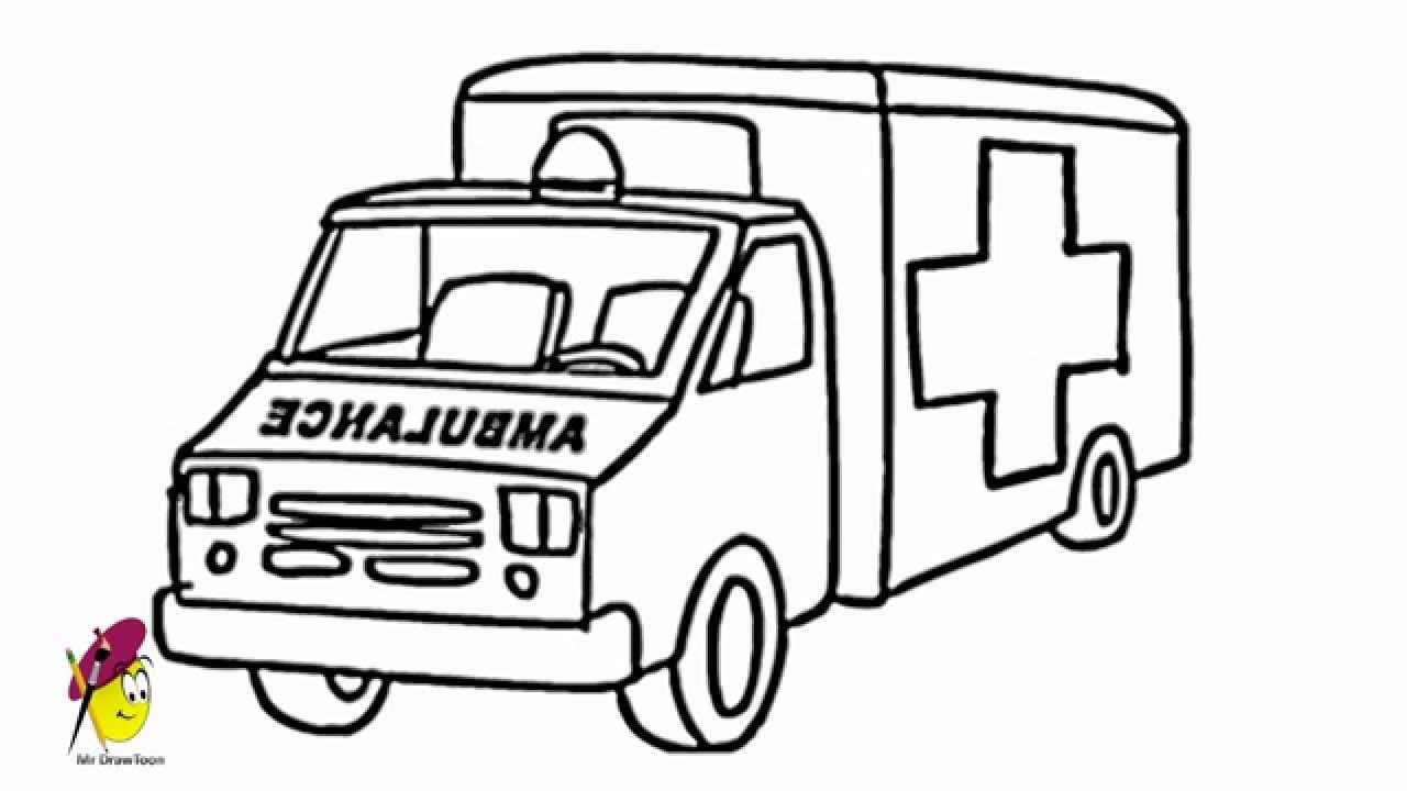 Uncategorized Easy To Draw Truck ambulance how to draw an youtube ambulance