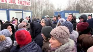 Strajk w ubojni 03.02.2017