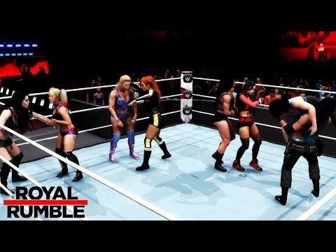 WWE 2K20 30-WOMAN ROYAL RUMBLE MATCH