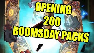 Opening 200 Hearthstone Boomsday Project Packs! PRAISE MECA'THUN