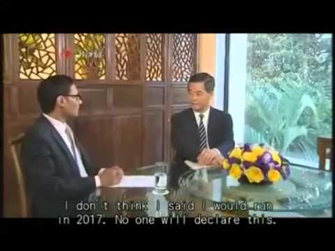 Leung Chun Ying caught lying about plan to run in 2017