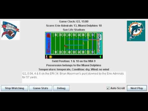 Week 3: Erie Admirals (1-1) @ Miami Dolphins (0-2)