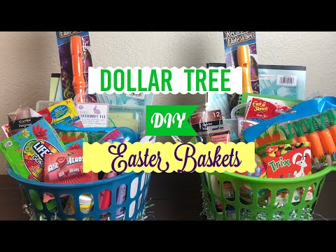 DIY Dollar Tree Easter Baskets...with My Husband!