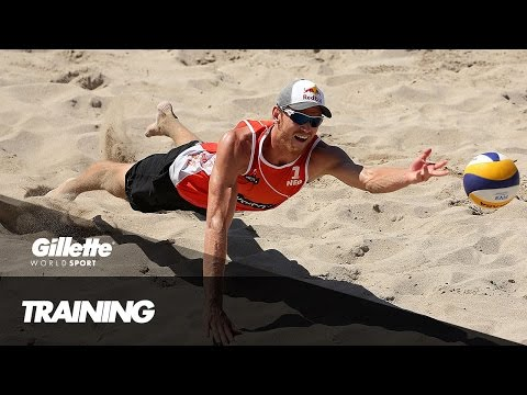 Beach Volleyball Training with the Netherlands | Gillette World Sport