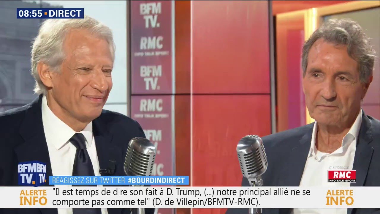 Dominique de Villepin était face à Jean-Jacques Bouridn sur RMC et BFMTV