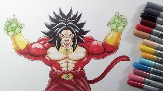 Drawing Broly the Legendary Super Saiyan 4 -  GIVEAWAY